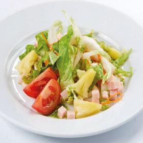 Салат с ветчиной и ананасом (ЧЕТВЕРГ)