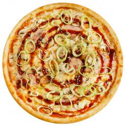 """Пицца """"Барбекю"""" с пышным краем"""