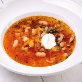 Суп овощной с фасолью (ЧЕТВЕРГ)