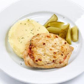 Куриное филе по-французки с картофельным пюре