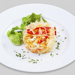 Салат из капусты со сладким перцем (ПЯТНИЦА)