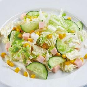 Салат из пекинской капусты с ветчиной и кукурузой (ПОНЕДЕЛЬНИК)