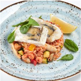 ФИТНЕС МЕНЮ:           Судак с морепродуктами в овощном соусе