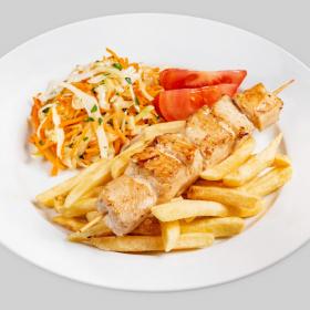 Куриный шашлык с картофелем фри(ПОНЕДЕЛЬНИК)