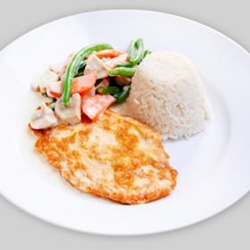 Филе куриное с овощами и рисом(СРЕДА)
