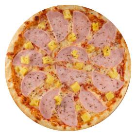 """Пицца """"Гавайская"""" 26 см на тонком тесте"""