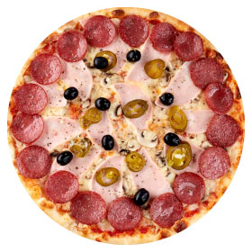 """Пицца """"Особенная"""" 26 см., на тонком тесте"""