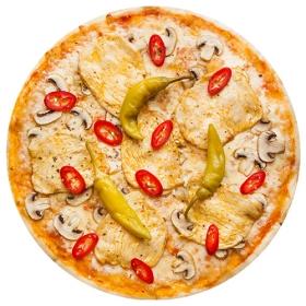 """Пицца  """"Сицилийская"""" 26 см., на тонком тесте"""