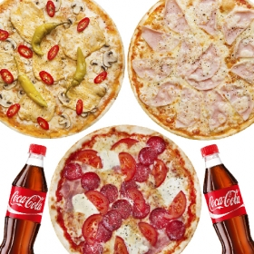 """Акция """"3+2 Coca-Cola"""" тонкое тесто"""