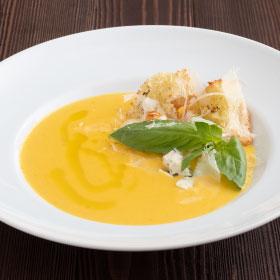 Сырный суп-крем с крутонами
