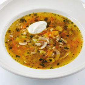 Грибной суп с перловкой(ВТОРНИК)